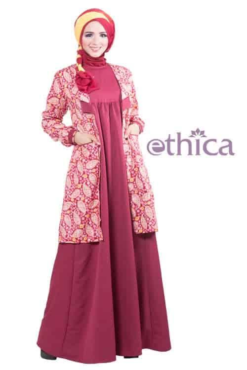 Contoh Baju Gaun Pesta Muslim Ethica Collection