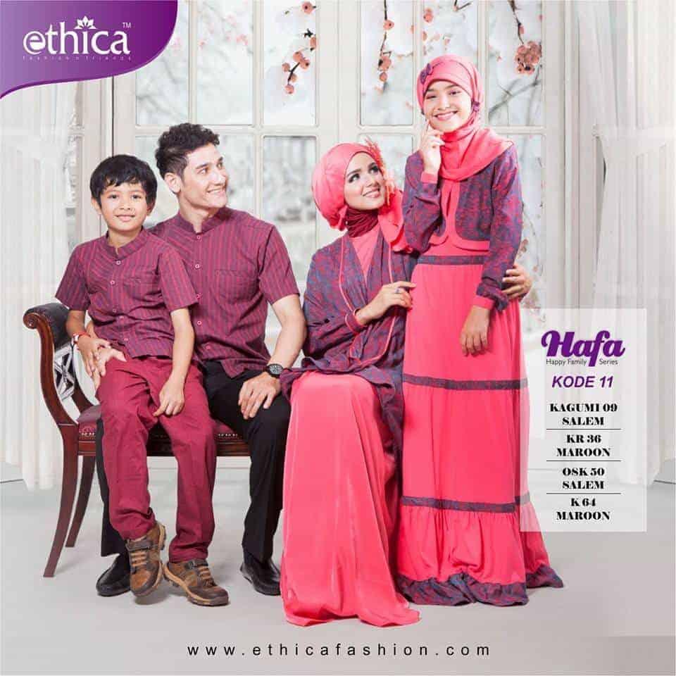 35 Model Baju Keluarga Untuk Baju Muslim Rok Lebar Batik