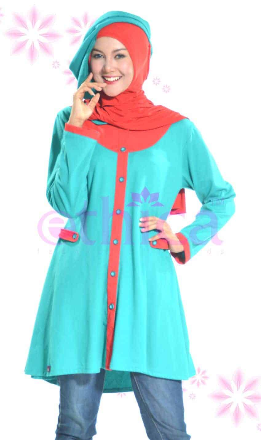 Model Baju Atasan Muslim Wanita Modern Terbaru Untuk Pesta Ethica
