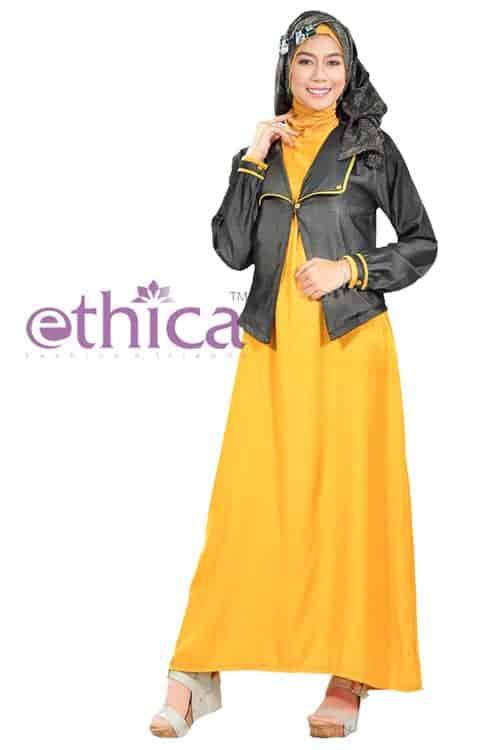 ... model baju gaun pesta muslim Kagumi-04 kuning terbaru ... eb5e4c87cd