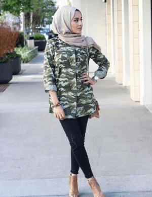Kemeja army dan jeans