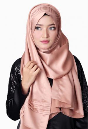 jilbab pashmina satin