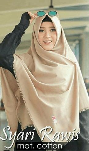 jilbab segi empat rawis