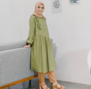 Busana muslimah syar'i lebaran 2019 Vebby Palwinta
