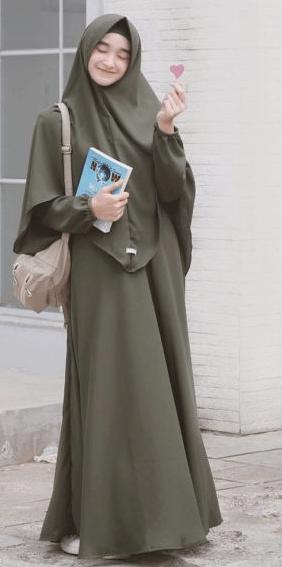 Hijab syar'i sederhana